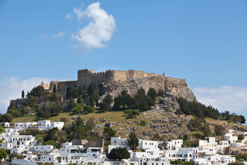 Castle overlooking Lindos