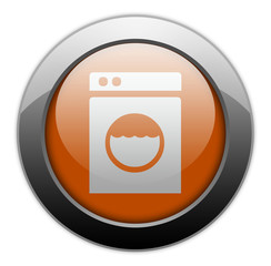 "Orange Metallic Orb Button ""Laundromat"""