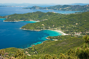 Panoramic view of Elba island.