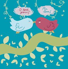 coppia di uccellini