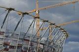 Sports stadium under construction. Warsaw - 32432940