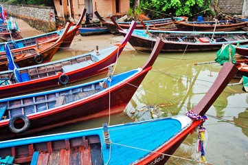 Traditional Thai boats