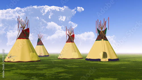 In de dag Indiërs Native American Teepees