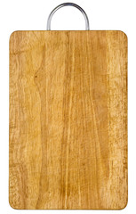 Empty wooden hardboard isolated with clipping path included