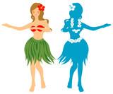 Fototapety hula girl