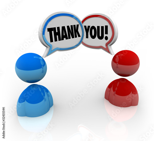 Thank You - Two People Voicing Appreciation