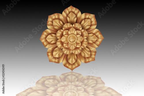 Poster Flower gold