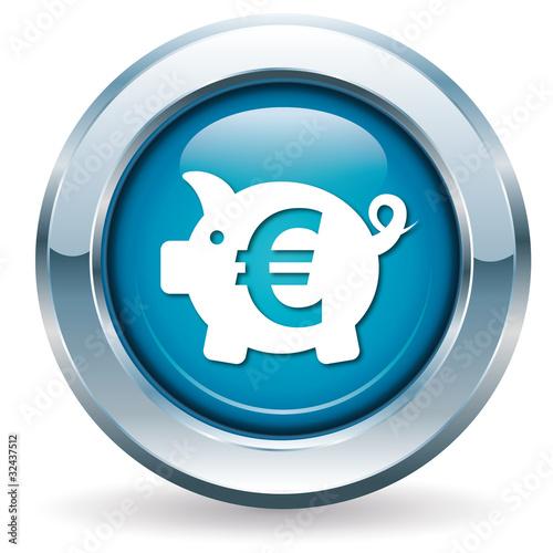 Sparschwein - Button