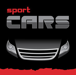 Sport car. Background for card. Vector