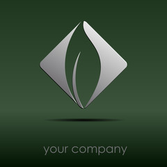 Logo leaf on the rumble # Vector