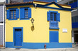 Yellow and blue house in Aveiro downtown.