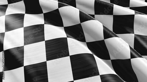 Leinwandbild Motiv Zielflagge High-Detail