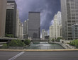 Storm approaching Chicago, Illinois