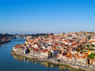 panorama of Porto and river Duoro, Portugal