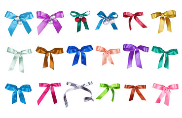 Set of color bows