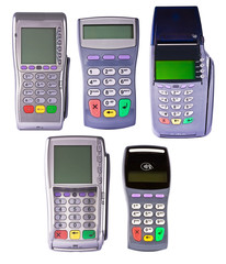 Payment terminals for payment of purchases on white