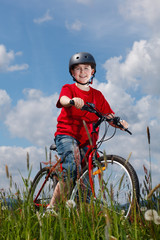Cyclist - boy riding bike