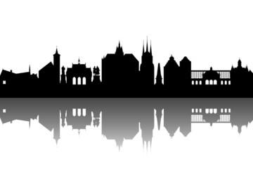 Erfurt Skyline abstrakt