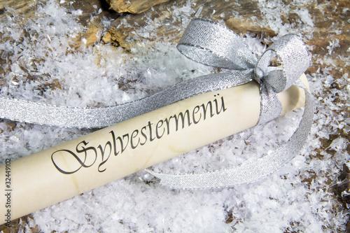 Leinwanddruck Bild Sylvestermenü