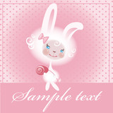 Beloved bunny with a rose. poster