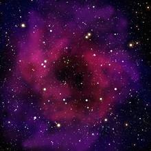 Nébuleuse et la star dans le domaine spatial
