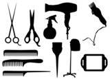 Fototapety Hairdressing objects
