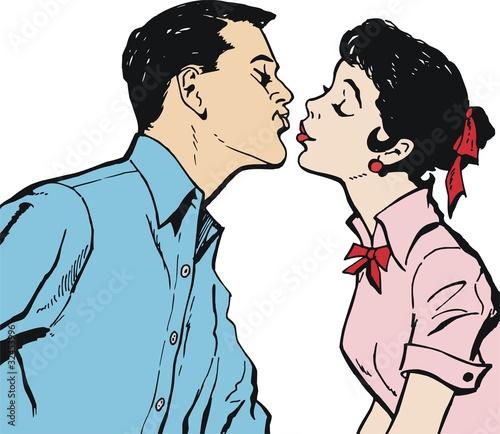 pareja de enamorados. Pareja de enamorados besandose