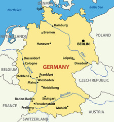 vector illustration -  map of Germany.