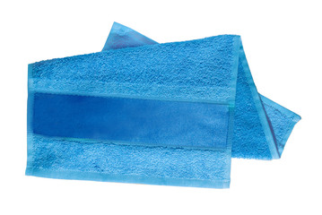blue towel for face and hands
