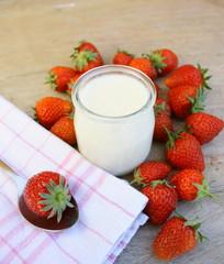 dessert de riz au lait aux fraises
