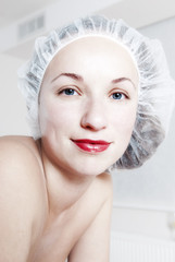 Woman after cosmetic procedures
