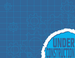 Under Construction Blueprint Website Design