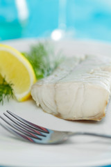 Seelachsfilet mit Zitronenecken
