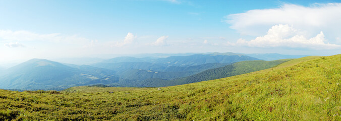 Panoramic view of Carpathian mountains, Ukraine