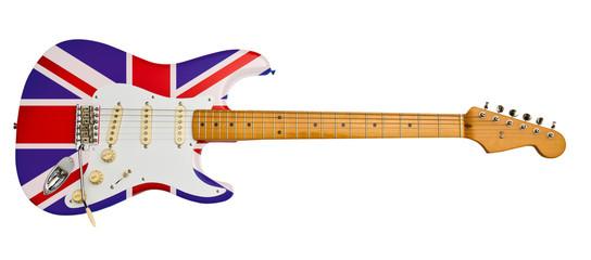 united kingdome flag electric guitar