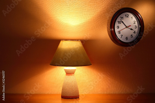 Lamp And Clock