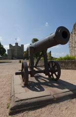 A cannon at Rochester Castle in Kent