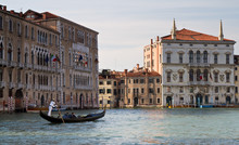 Gondola crossing the Grand Canal