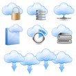 Cloud Hosting Icons