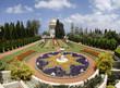 Ornamental garden of the Baha'i Temple in Haifa, Israel.