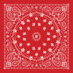 Bandana design in red and white