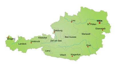Karte Österreich / vektor