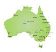 Karte Australien / vektor