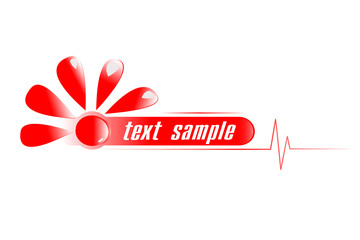 diagnostic center red vector