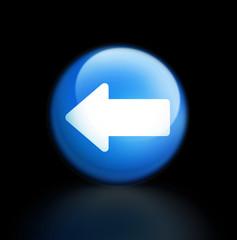 back zurück rückwärts löschen button glossy