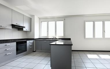 interno cucina moderna vuota