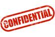 Grunge Stempel rot CONFIDENTIAL