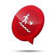 Icono 3d escalera de emergencia