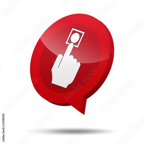 Icono 3d boton de alarma