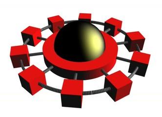 Network hub animated